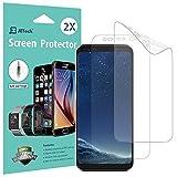 Pellicola Protettiva Galaxy S8, [Copertura Completa], JETech SOFTOUGH Pacco da 2 TPE Screen Protector Film per Samsung Galaxy S8