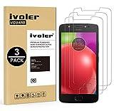 iVoler [3 Pack] Pellicola Vetro Temperato per Motorola Moto E4 [Garanzia a Vita], Pellicola Protettiva, Protezione per Schermo