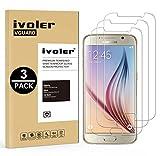 iVoler [3 Pack] Vetro Temperato Compatibile con Samsung Galaxy S6 [Garanzia a Vita], Pellicola Protettiva, Protezione per Schermo