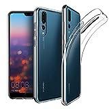 EasyAcc Huawei P20 Pro Custodia, Morbido TPU Cover Cristallo limpido Trasparente Slim Anti Scivolo Protezione Posteriore Case Antiurto per Huawei P20 Pro 6.1''