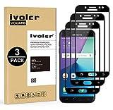 iVoler [3 Pack] Pellicola Vetro Temperato Compatibile con Samsung Galaxy J7 2017, [Copertura Completa] Pellicola Protettiva Protezione per Schermo per Samsung Galaxy J7 2017