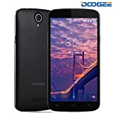 Telefonia Mobile, DOOGEE X6S Dual SIM Cellulari in offerta - 4G Quad Core Smartphone Android - 5.5 Pollici IPS Schermo con 5.0 MP Fotocamera Digitale - 1GB RAM + 8GB ROM - Intelligente Wake Air Gesti - Nero
