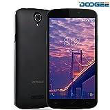 Telefonia Mobile, DOOGEE X6S Dual SIM Cellulari in offerta - 4G Quad Core Smartphone Android - 5.5 Pollici IPS Schermo con 5.0 MP Fotocamera Digitale - 1GB RAM + 8GB ROM - Intelligente Wake Air Gesti - Nero