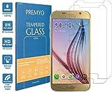 PREMYO [2 Pezzi] Vetro Temperato per Samsung Galaxy S6 Pellicola Protettiva per Galaxy S6 Protezione Schermo Compatibile con Samsung S6 Durezza 9H Bordi 2,5D Anti-Graffi Bolle Impronte