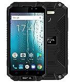 OUKITEL K10000 MAX - 5.5 pollici FHD IP68 impermeabile / antiurto / antifurto con batteria 10000mAh, Android 7.0 Octa Core 1.5GHz, 3GB RAM + 32GB ROM, torcia elettrica Superpower LED, fotocamera 8MP + 16MP - Nero