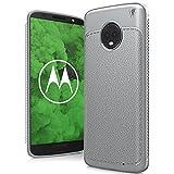 Motorola Moto G6 Plus Cover, Custodia Sottile e Morbida Protettiva in Litchi Texture Silicone TPU per Motorola Moto G6 Plus 5.9' Smartphone, Nero