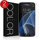 Pellicola Galaxy S7, [2 Pezzi] G-Color Trasparente Pellicola in TPU Ultra Sottile, Alta definizione Senza Bolle per Samsung Galaxy S7,(Garanzia a vita)