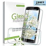 Youer Galaxy S7 Edge Vetro Temperato, [2 Pezzi]3D Piena Compatibile Copertura Completa Pellicola protettiva Alta Definizione,Infrangibile,Resistente ai Urti, 9H durezza Resistente,Anti-schiuma,Ai Graffi Screen Protector per Samsung Galaxy S7 Edge - Trasparente