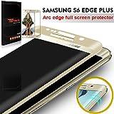 Galaxy S6 Edge Plus Pellicola Protettiva, TEFOMATE Pellicola Protettiva Temperato di Vetro Tempered Glass Full Screen Protector per Samsung Galaxy S6 Edge Plus / S6 Edge + 5.7' [3D Curvo Schermo Intero] (Gold)