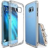Ringke FUSION, Galaxy S7 Edge Cover trasparente, in TPU. Protegge da cadute e urti, con tappino antipolvere, per Samsung Galaxy S7Edge