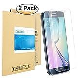 Galaxy S6 Edge Pellicola Protettiva, PULESEN [2-PACK] Samsung Galaxy S6 Edge protezione S6 Edge Pellicola, 99,9% Proteggi Schermo HD chiaro 2.5D Pellicola Protettiva per Galaxy S6 Edge