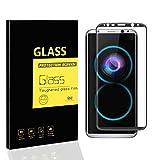 Samsung Galaxy S8+ / S8 Plus Pellicola Protettiva , MENGGOOD 3D Full Proteggi Schermo in Vetro Temperato Copertura Completa [ Bordo a Bordo ] Protezione di Display Cristallo Trasparente Invisibile per Samsung Galaxy S8+ / S8 Plus / G955F - Bordo Nero