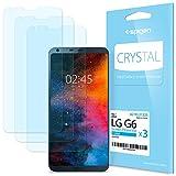 Spigen 3Pezzi Pellicola Protettiva LG G6, proteggischermo Trasparente, Pellicola LG G6, Protezione per Schermo (A21FL21224)