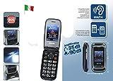 Telefono Cellulare Switel M270 Senior Phone Dual SIM per Anziani Volume Amplificato Suoneria Amplificata Compatibile Portatori Apparecchi Acustici Certificato M4/T4 HAC Funzione SOS Telesoccorso TeleSalvavita Teleallarme GSM Base di Ricarica Inclusa