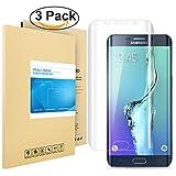 Galaxy S6 Edge Plus Pellicola Protettiva, PULESEN [3-PACK] Samsung Galaxy S6 Edge Plus protezione Pellicola, 99,9% Proteggi Schermo HD chiaro 2.5D Pellicola Protettiva per Galaxy S6 Edge Plus