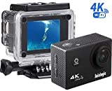 DBPOWER EX7000 PRO 4K, Action Camera Wi-Fi, schermo da 2.45' LCD Touchscreen, videocamera subacquea con sensore Sony Image da 16MP, Sport cam waterproof con a 170° e 2 batterie ricaricabil