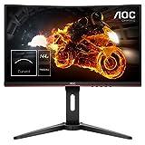 AOC Monitor Italia C24G1 Gaming da 24' Curvo, FHD 1920 X 1080 a 144Hz, 2 X HDMI, Nero