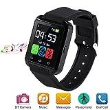 Letopro Smartwatch Bluetooth Orologio Intelligente Compatibile con Android iOS Smartphone.Smart Watch telefono da Polso con Pedometro/Promemoria di Chiamata/Contatore di Caloria U8 Watch(Nero)