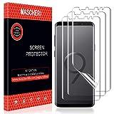 MASCHERI Pellicola Protettiva per Samsung Galaxy S9, [3 Pack] liquida Premium Pellicola [Anti-Bolla] [Bagnato Applicato] Ultra HD Film per Samsung Galaxy S9