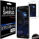 [confezione da 3] Techgear Huawei P10Lite [Ghostshield Edition] Genuine rinforzato TPU proteggischermo copre con schermo intero copertura con schermo curvo superficie [3D curvo protezione bordi]