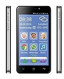 Cellulare Smartphone per Anziani con Suoneria e Volume Amplificati Extra Forte Compatibile Apparecchi Acustici M4 T4 Tasto SOS Emergenza Medica Dual Sim Display 5 Fotocamera Quad Core RAM 1 GB Flash 8 GB
