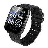Smartwatch Orologio Uomo Donna Fitness Tracker Contapassi Calorie Cardiofrequenzimetro da polso Impermeabile IP68 Cronometro Notifiche Messaggi Controller per Android iOS,Nero.