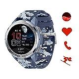 HONOR Watch GS Pro Smartwatch Orologio Fitness Uomo Donna 25 Giorni di Batteria, Monitoraggio SpO2 Frequenza Cardiaca e Stress,1.39'' AMOLED, GPS 5ATM Impermeabile Smart Watch, Per Android, Blu