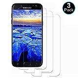 DOSMUNG [3 Pezzi Vetro Temperato per Samsung Galaxy J5 2017, Pellicola Vetro per Samsung Galaxy J5 2017 [Anti-Graffio/Olio] [Senza Bolle] [3D Touch] [9H Durezza] Samsung J5 2017 Pellicola Protettiva