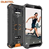 OUKITEL WP5 IP68 Rugged Smartphone in Offerta,Dual 4G Outdoor Smartphone Robusto,Impermeabile Antiurto,8000mAh Batteria,4+32GB,5.5' FHD+ (Gorilla Glass),Triple Camera,4 LED Flash,GPS (Arancione)