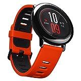 Xiaomi Huami Amazfit UYG4012RT, Smartwatch per fitness, con cardiofrequenzimetro, Bluetooth 4.0 per iPhone iOS e Android, Rosso