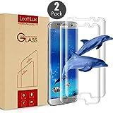 Leathlux 2 × Pellicola Vetro Temperato Galaxy S7 Edge Piena Copertura Protezione dello Schermo Vetro Temperato Nessun Bordo sollevato Pellicola Protettiva in Vetro Temperato per Galaxy S7 Edge 5.5'