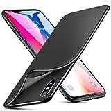 ESR Cover per iPhone X [Supporta la Ricarica Wireless], Custodia Opaca Morbida di TPU [Antiscivolo, AntiGraffio] Ultra Sottile e Legere per Apple iPhone X (Uscito a 2017) da 5.8 Pollici. (Nero)