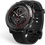 Amazfit Stratos 3 Smartwatch con GPS e Memoria Musicale, Orologio Sportivo con 19 Modalità Sportive, Display MIP da 1,34 Pollici, Impermeabile 5 ATM, Fitness Tracker per Uomo, Donna, Sport
