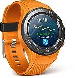 Huawei Watch 2 Smartwatch, 4G/LTE, 4 GB ROM, Android Wear, Bluetooth, Wifi, Monitoraggio della frequenza cardiaca, GPS + Glonass, Arancione (Dynamic Orange)