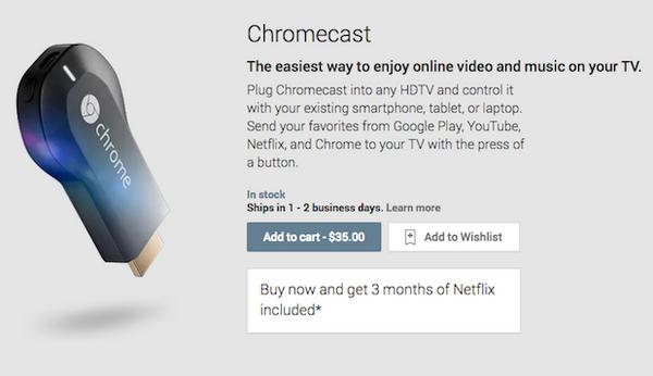 Google Chromecast, un dongle HDMI per streaming da Android a TV a 35 dollari