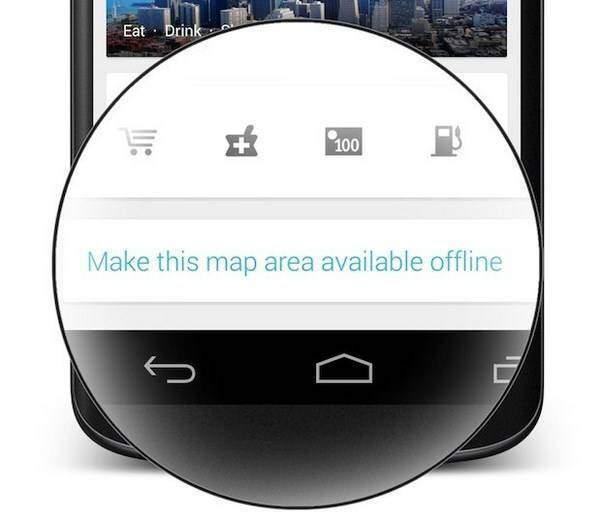 Nuovo Google Maps, tornano le mappe offline
