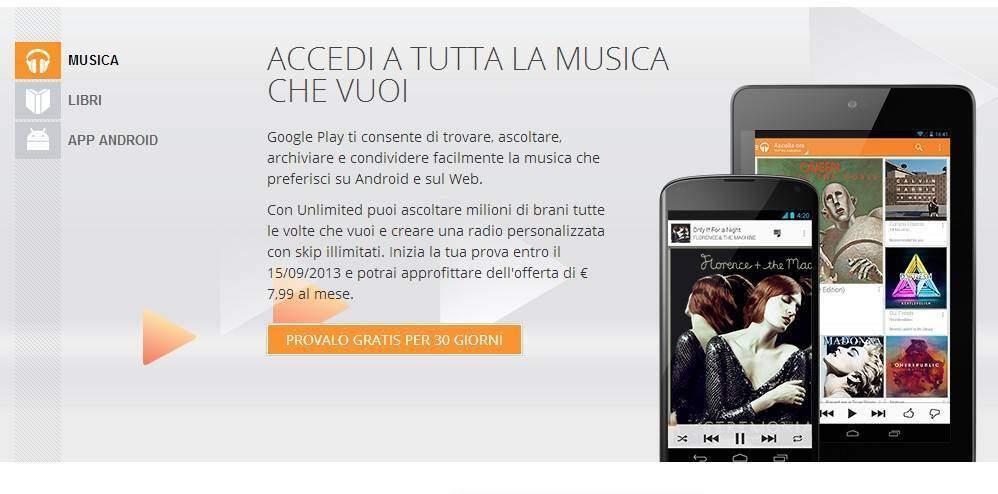 Google Play Music All Access arriva in Italia! Scopriamo il nuovo servizio di Google!