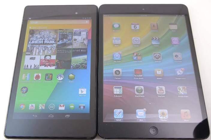 Nexus 7 2013 contro iPad Mini: video-confronto