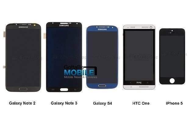Samsung Galaxy Note 3 a confronto con Note 2, Galaxy S4, HTC One e Iphone 5