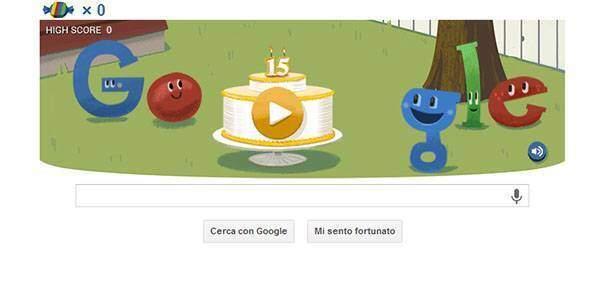 Google festeggia con un doodle i 15 anni