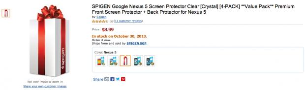Nexus 5: lancio ad Ottobre confermato dalla disponibilità delle pellicole su Amazon?
