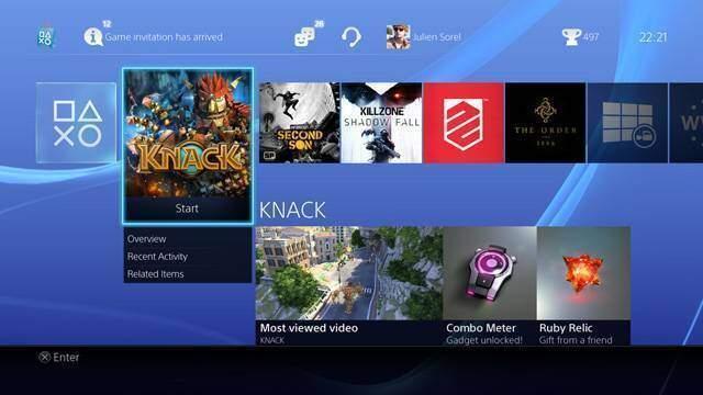 PS4: interfaccia utente mostrata in alcuni scatti!