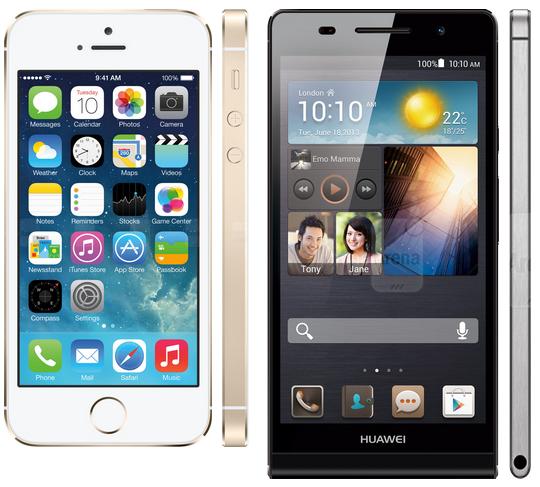 iphone-5s-huawei-p6