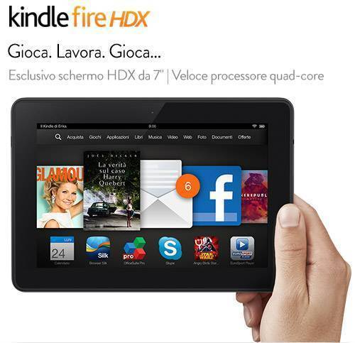 Kindle Fire HDX 7 e Fire HDX 8.9: arrivano su amazon.it!