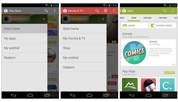 Android 4.4 KitKat, ecco Play Store 4.4