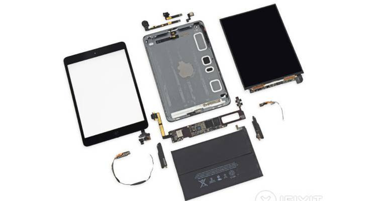 iPad Mini Retina, ecco il teardown di iFixit