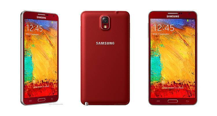samsung galaxy note 3 rosso