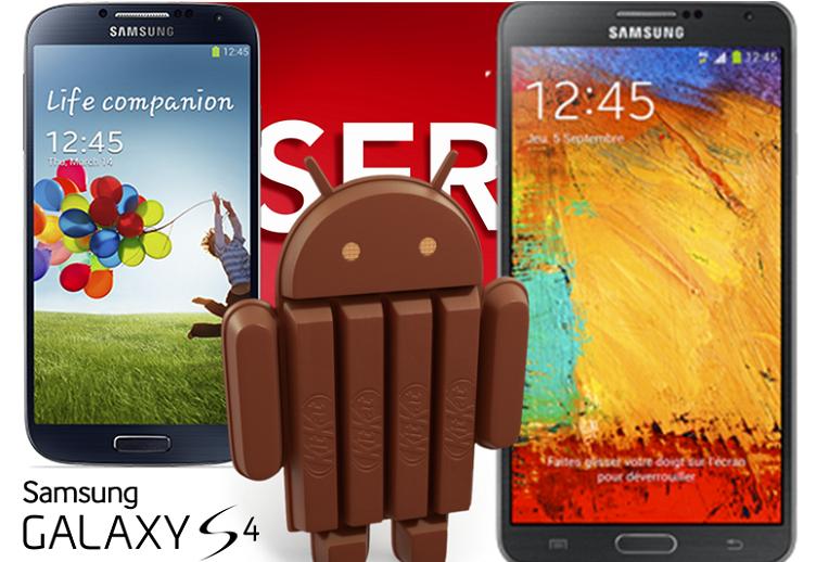 Samsung Galaxy S4 e Note 3: l'aggiornamento ad Android 4.4 arriverà a Gennaio 2014!