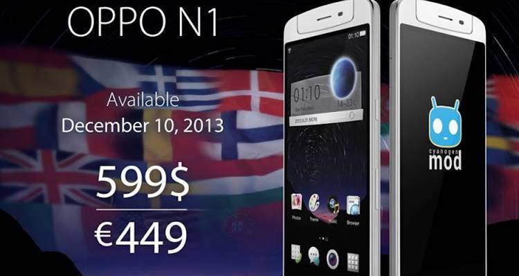 Oppo N1 arriva in Europa a 449 euro!