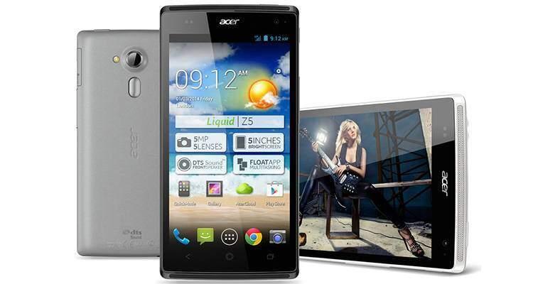 Acer Liquid Z5: caratteristiche tecniche e data di lancio
